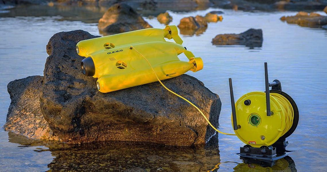 GLADIUS Advanced Pro. Умный подводный дрон с 4К-камерой для съемок ваших подводных приключений