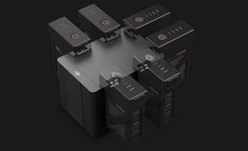 6 аккумуляторов с возможностью одновременной зарядки