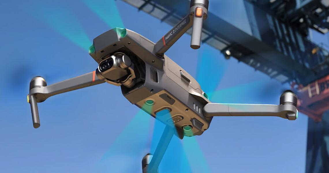 Mavic 2 Enterprise Dual. Интегрированные в единую систему полетные датчики