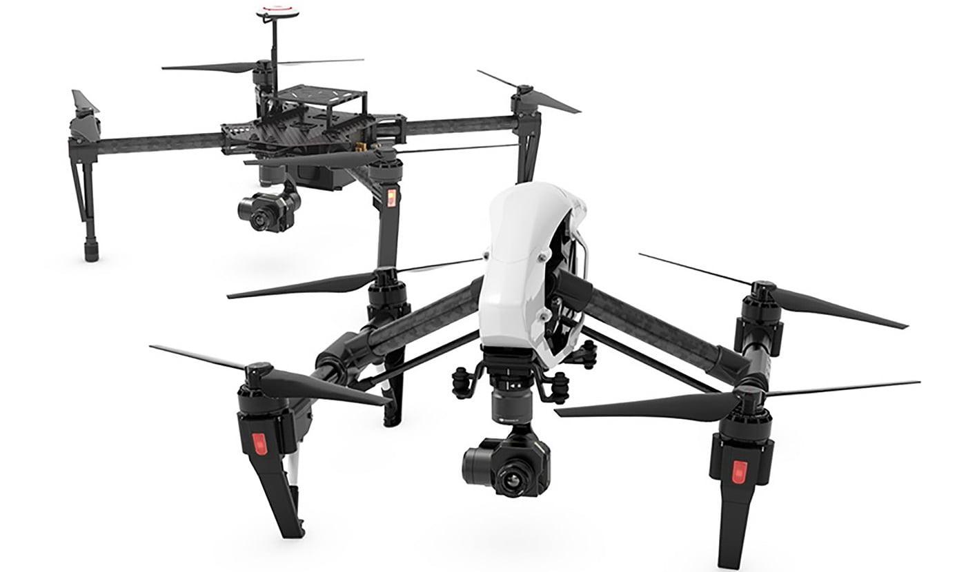 Zenmuse XT с дронами Inspire 1 и Matrice 100
