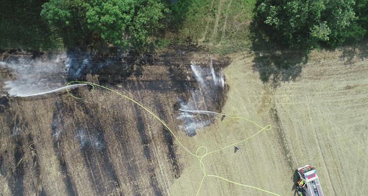 Использование дронов для мониторинга пожароопасных районов