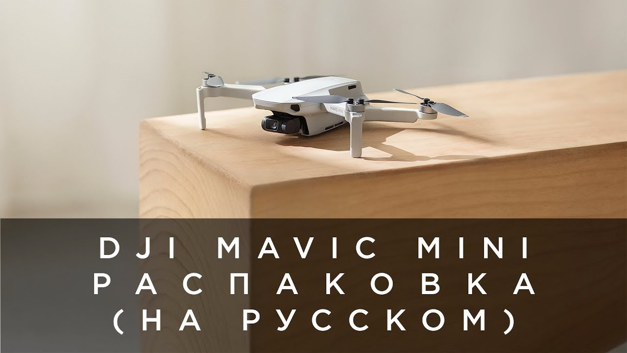 Распаковка DJI Mavic Mini (на русском)